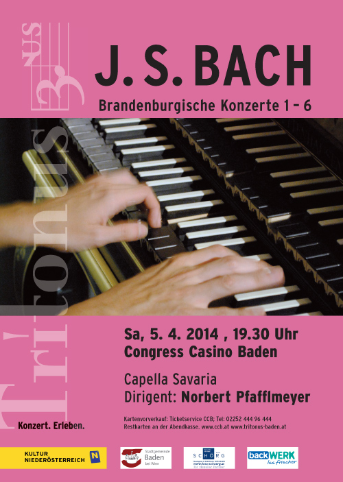 Tritonus 5.4.2014: J.S. Bach, Brandenburgische Konzerte 1-6